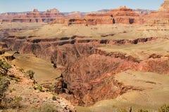 Agujero enorme en la tierra, Grand Canyon interno Fotos de archivo libres de regalías