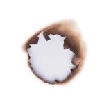 Agujero quemado imagen de archivo libre de regalías