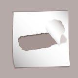 Agujero rasgado elemento de papel Foto de archivo libre de regalías