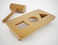 Agujero redondo de la clavija cuadrada Foto de archivo