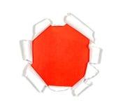 Agujero redondo en papel Imagen de archivo libre de regalías