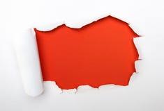 Agujero rojo Imagen de archivo libre de regalías