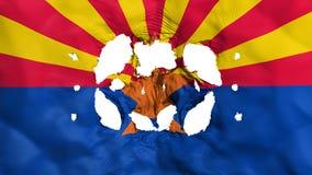 Agujeros en bandera del estado de Arizona ilustración del vector