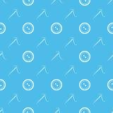 Agulha de costura e teste padrão sem emenda mínimo dos botões Imagens de Stock Royalty Free