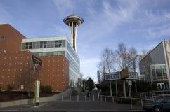 Agulha do espaço da arquitetura de Seattle foto de stock