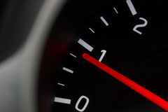 A agulha do tacômetro Fotografia de Stock