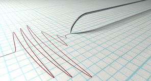 Agulha e desenho do polígrafo Imagem de Stock Royalty Free