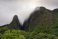A agulha, parque estadual do vale de Iao, Maui, Havaí Imagens de Stock Royalty Free