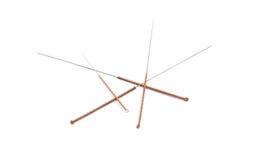 Agulhas da acupuntura Imagem de Stock