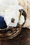 Agulhas de confecção de malhas Fotografia de Stock Royalty Free