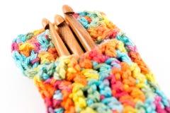 Agulhas de crochê de madeira Imagem de Stock Royalty Free