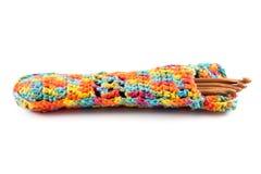 Agulhas de crochê de madeira Fotos de Stock Royalty Free