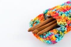 Agulhas de crochê de madeira Imagem de Stock