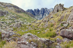 Agulhas Negras góra w Itatiaia obywatela normie (czarne igły) Zdjęcie Royalty Free