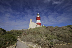 agulhas przylądka latarnia morska Fotografia Royalty Free