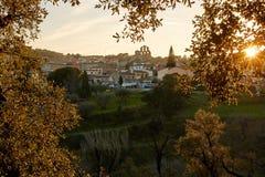 Agullana wioska, Girona, Hiszpania Obraz Stock