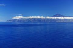 Agulo и вулкан El Teide Стоковые Изображения RF