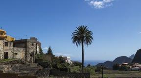 Agulo, los angeles Gomera, wyspa kanaryjska Hiszpania Obrazy Royalty Free