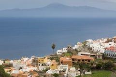 Agulo wioska na Gomera wyspie, Hiszpania Fotografia Royalty Free