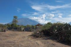 Agung火山 免版税库存图片
