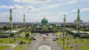 Agung An-nur moské Pekanbaru - Riau, Indonesien Royaltyfri Bild