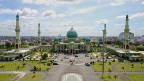 Agung An-nur Mosque Pekanbaru - Riau, Indonesia. Agung An-nur Mosque royalty free stock image