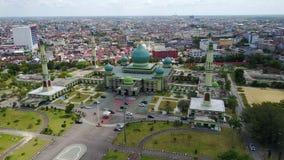 Agung An-nur Mosque Pekanbaru, Riau - Indonesia. Agung An-nur Mosque royalty free stock photo