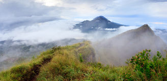 Agung volcano view from Batur Stock Images