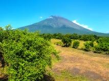 Agung wulkan jest wysokim górą na Bali wyspie, Indonezja Obrazy Stock
