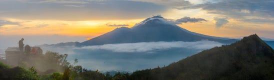 Agung wulkan w Bali, 4 dnia przed erupcją Zdjęcia Royalty Free