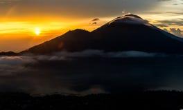 Agung wulkan w Bali, 4 dnia przed erupcją Obrazy Royalty Free