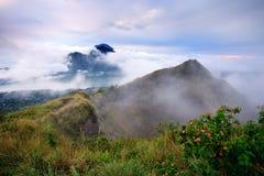 Agung wulkanu widok od Batur Fotografia Stock