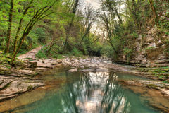Agura River in Sochi, HDR Royalty Free Stock Photo