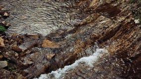 Agura waterfalls. Upper Falls HD. Stone rock relief stock footage