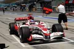 Aguri super F1 SA07 Takuma Sat Fotografia de Stock Royalty Free