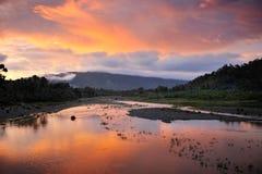Agusan Fluss lizenzfreie stockbilder