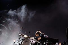 Agust Aevar Gunnarsson, baterista do explorador de saída de quadriculação de Sigur Imagem de Stock