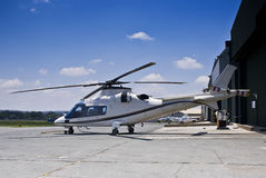 Agusta A109 Helicopter Royalty Free Stock Photos