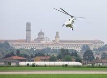 Agusta Westland AW139 helicopter. VARESE, ITA - MAY 14 - Agusta Westland AW139 helicopter flying close to Venegono Seminary at Varese Airshow, 14 May 2011 Stock Image
