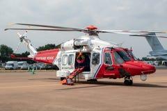 AgustaWestland AW189抢救直升机 免版税库存图片