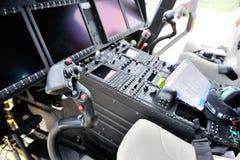 AgustaWestland AW189驾驶舱 免版税库存图片