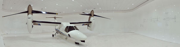 AgustaWestland AW609 tiltrotor panorama Royalty Free Stock Photo