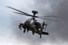 AgustaWestland WAH-64D亚帕基AH1英国陆军空军的攻击用直升机ZJ 172 库存照片