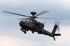 AgustaWestland WAH-64D Apache AH1 śmigłowiec szturmowy ZJ 172 Brytyjskiego wojska Lotniczy korpusy zdjęcie stock