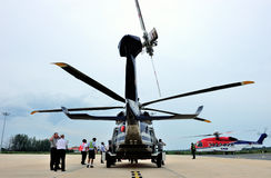 AgustaWestlandaw189 Azië reis die Thailand bezoeken Stock Foto's