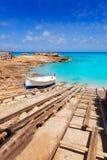 agusti Calo De Es Formentera wyspy port San Zdjęcia Stock