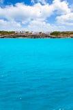 agusti calo es Formentera mieści San morza widok Zdjęcia Royalty Free