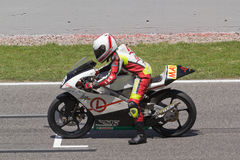 Agusti Levy. Out of the 125 GP race bikes in the Circuit de Catalunya Stock Photo