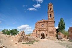 agustin Belchite kościół San Fotografia Royalty Free