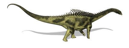 Agustinia Dinosaur royalty free illustration